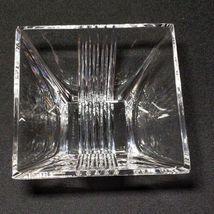 "1 (One) TIFFANY & CO METROPOLIS Crystal 4"" Bowl Square - Signed image 3"