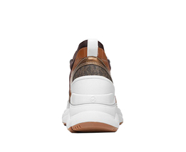 Michael Kors Women's Mickey Trainer Tech Canvas Casual Chocolate Sneaker Shoes image 4