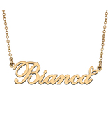 Name Necklace Gold and Silver for Friend Family Member Named Bianca - $13.99+