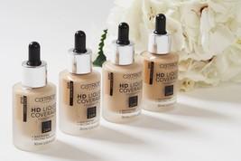 NEW CATRICE HD Liquid Coverage Foundation 24H Mattifying Second Skin Eff... - $11.87