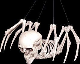 Creepy Mutant Hybrid HUMAN SKULL SKELETON SPIDER Horror Monster Prop Dec... - $22.74