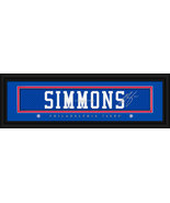 Ben Simmons Philadelphia 76ers Player Signature Stitched Jersey Framed P... - $39.95