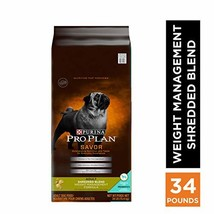 Purina Pro Plan Weight Management Dry Dog Food, SAVOR Shredded Blend Wei... - $99.91