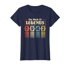Funny Shirts - Retro The Birth Of Legend 1942 76th Birthday Gift 76 yrs old Wowe image 4