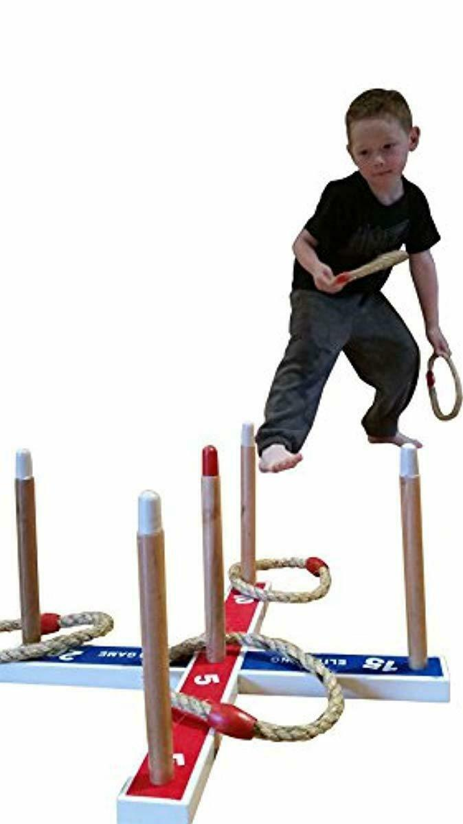 Elite Outdoor Games For Family - Ring Toss Yard Games for Kids and Adults. Easy