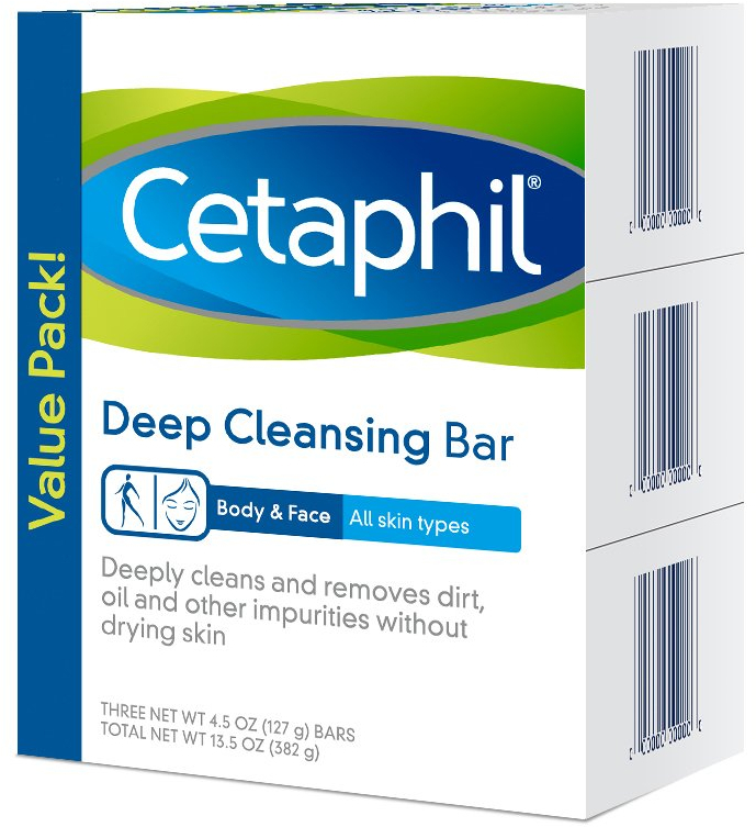 Primary image for Cetaphil Deep Cleansing Face and Body Bar for All Skin Types, 3 Count
