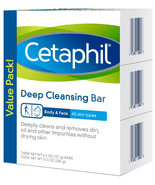 Cetaphil Deep Cleansing Face and Body Bar for All Skin Types, 3 Count - $13.99+