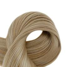 RUNATURE Clip on Human Hair Weft Extensions 14 Inches 100g 9pcs 16P24 Piano Colo image 3