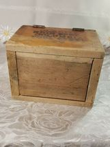 VINTAGE CLARITE HIGH SPEED COLUMBIA TOOL STEEL CO. WOODEN BOX image 6