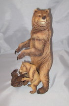 "Brown Bears Momma bear with 2 Cubs 11"" high Figurine Detailed Grizzly New - $65.33"