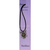 Amy Brown Red Bubble Rider Fairy Necklace - $9.95