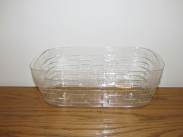 Longaberger Business Card Basket Plastic Protector Only New Authentic - $10.84