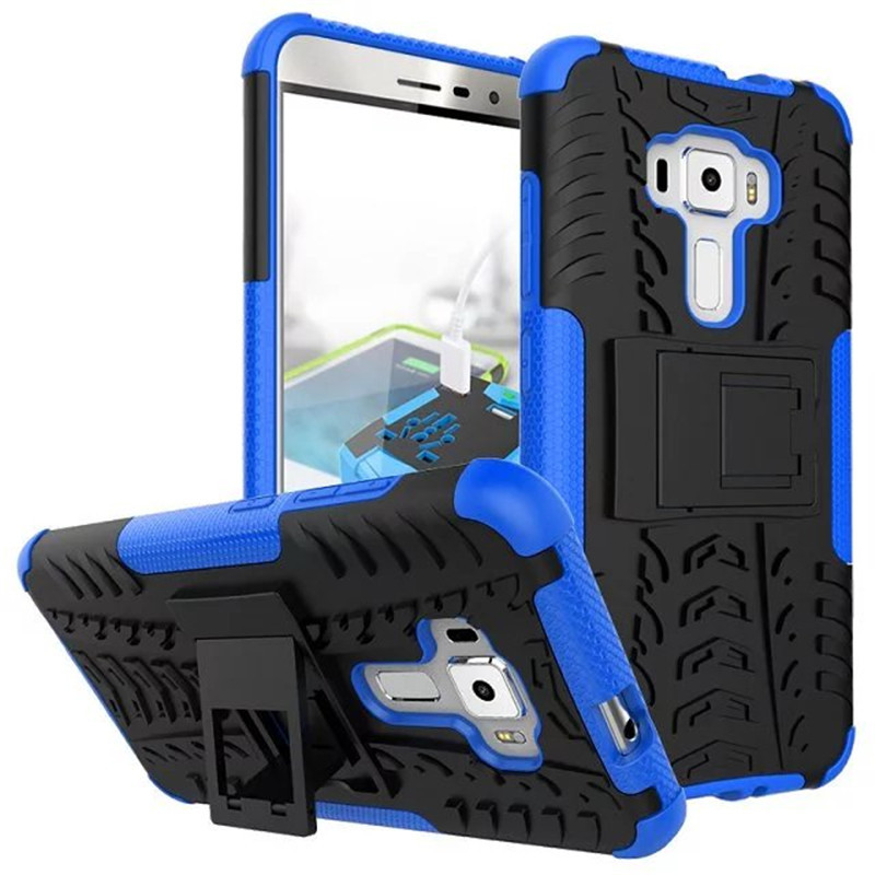 Ion hybrid armor kickstand cover case for asus zenfone 3 ze552kl 5 5inch blue p20160708155148424