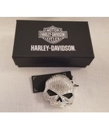 Harley Davidson WILLIE G. SKULL Bling belt BUCKLE filled CRYSTALS - $67.59