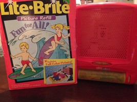Pink Lite Brite With Vintage Lite Brite Fun For All Refill Collectible Gift - $17.95