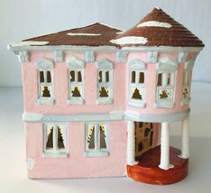 Dept 56 Original Snowhouse Pink Summit House Lighted Building 1985 Snow ... - $77.39