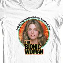 The Bionic Woman T-shirt retro 70's 80s TV Six Million Dollar Man white NBC539 image 1
