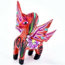 Handmade Alebrijes Oaxacan Wood Carved Folk Art Mini Pegasus Horse Figurine image 2