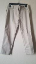 Ann Taylor LOFT Khaki Marisa Riviera Mid Rise Skinny Cropped Trousers Pa... - $34.81