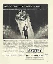 Mallory FP Capacitor Top Hat Man Tone 1939 Print AD - $14.99