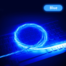 Led Flowing Phone Charging Cable Glow in The Dark USB Charger Cable iPho... - $12.99