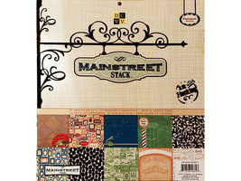 DCWV Mainstreet Stack 12x12 Cardstock Paper Pad, Matte & Flocked #PS005-00057