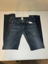 TRUE RELIGION JEANS Womens Size 28 Straight Cut Medium Wash Flap Pockets - $29.45