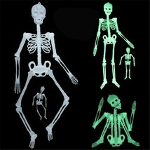 New Luminous Skeleton Props Plastic Hanging Skeleton Halloween Party Dec... - $8.99+