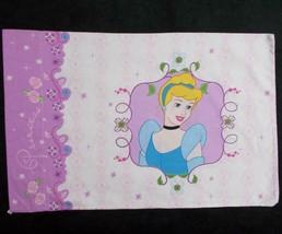 Disney Princess Pillowcase Cinderella Snow White Purple Lavender - $12.86