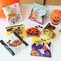 Candy Cookie Bags 100 Pcs Halloween Decoration For Home Kids Favor Pumpk... - $8.90