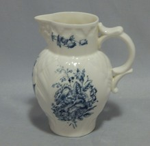 Royal Worcester Older Mark Blue Floral Spray Face Jug - $23.76