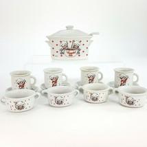 Vintage 1992 Campbell Kids Porcelain Cup Saucer Bowl Soup Pot w/ Ladle 1... - $48.37