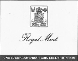 1989 Great Britain 9 Coin 3 Page C.O.A. Document Set - $3.31