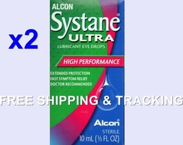 Alcon Systane Eye Drops Ultra Lubricant High Performance 10 ml 2X EXP. 2019 - $19.99