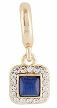 Gold Rhinestone Blue Charm For Endless Story Bracelet Interchangeable Je... - $8.86