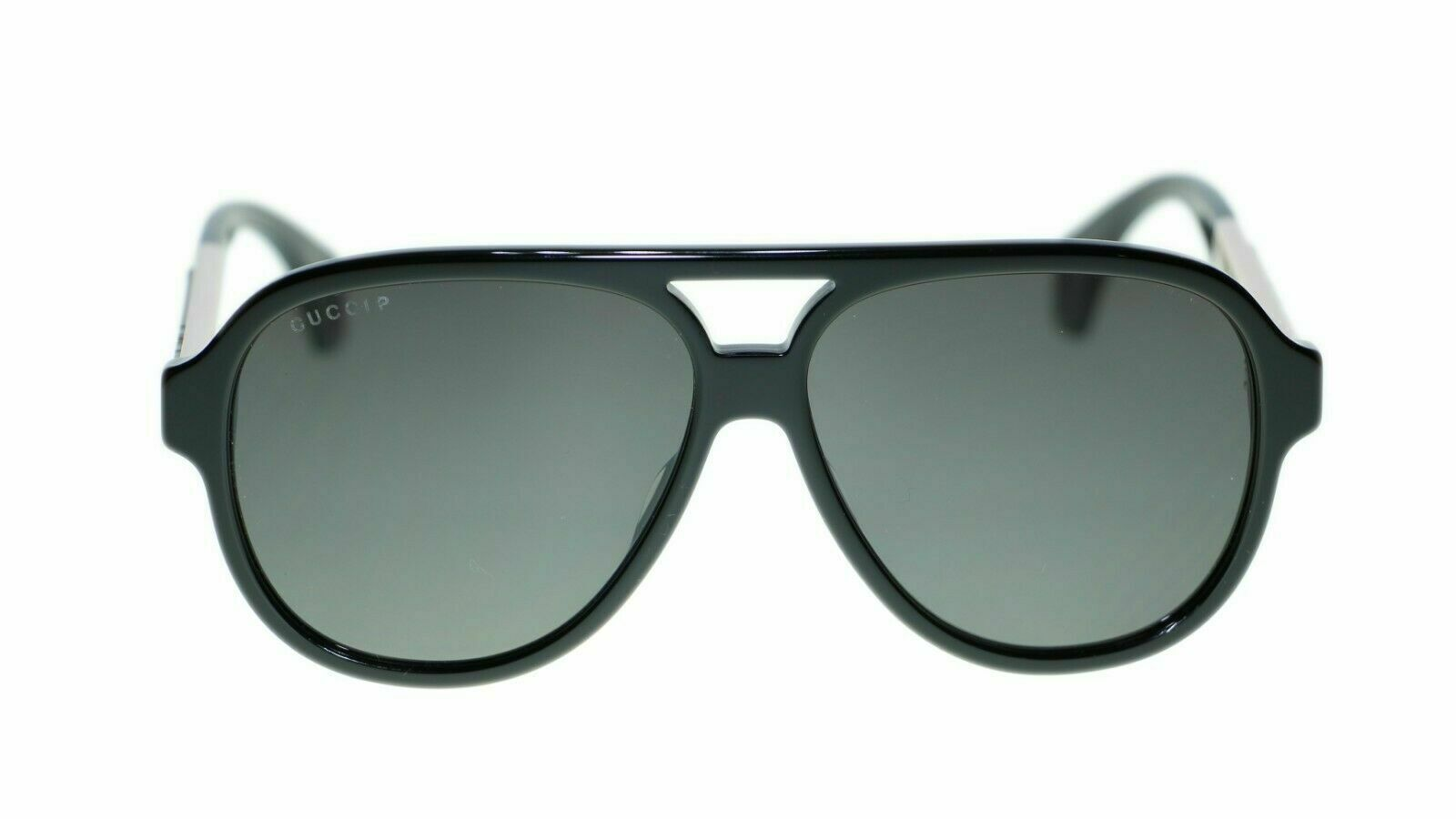 NEW Gucci GG0463S  002 Black Frame Grey Lens Polarized Authentic Sunglasses