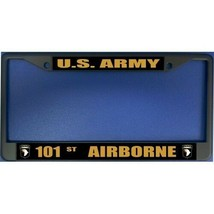 united states army 101st airborne logo military license plate frame made... - $27.07