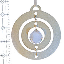 3D Aluminum and Crystal Circle Ornament image 4
