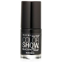 Maybelline Color Show Back to Black Nail Polish, 706 Black Matte  - $6.92