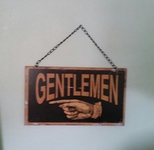 Ladies and Gentlemen Double Sided Vintage Style Restroom Sign - $20.00