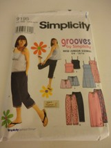 Simplicity Junior Size 11/12 - 15/16  pattern top dress shorts skirt cap... - $10.88
