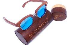 Engleberts Real Sandalwood Sunglasses W/ Bamboo Case, Ice Blue Polarized... - $57.00