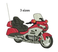 Honda Goldwing 1800 motorcycle filled embroidery design pattern Digital ... - $5.99