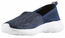Adidas Women's Blue White CF Lite Racer Cloudfoam Slip On Sneaker Shoes AC8476