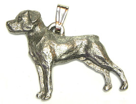 Rottweiler Pendant Dog Harris Fine Pewter Made in USA jewelry - $10.99