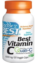 10 Pack Vitamin C European Quali-C 1,000 mg 120 Veggie Caps Immune Suppl... - $179.23
