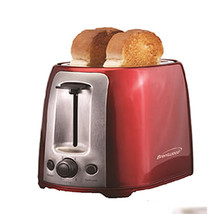 Brentwood 2 Slice Cool Touch Toaster ; Red and Stainless Steel - $50.78
