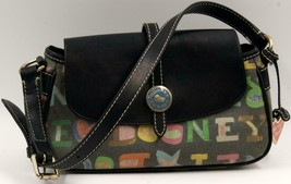 Dooney & Bourke rainbow zip bag Vintage Coated Leather Shoulder Bag - $55.57