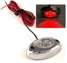 Octane Lighting 1PC Red Led Chrome Accent Module Motorcycle Chopper Frame Neon G - $4.90