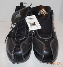 Adidas Diamond King 9 Baseball Metal Cleats Black White Low New Men's Size 14 - $32.73